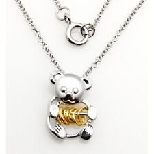 Wish Rings Sterling Silver Teddy Bear Pendant Necklace