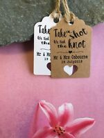 Personalised We Tied the Knot Take a Shot  Wedding Favour Tags  Thank You 20515