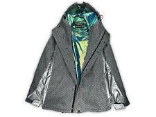 💎 ISSEY MIYAKE MEN 💎 Hoodie Iridescent Reversible Wool Coat Jacket (Size XXL)