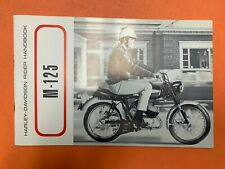 AERMACCHI HARLEY AMF NOS 1968-125 Rapido OWNERS MANUAL 99476-68