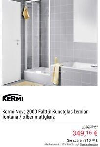 Kermi Nova 2000 Duschtrennwand/Falttür, Kunstglas NEU, in OVP