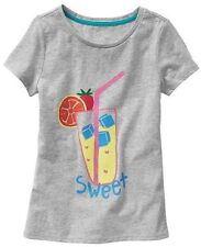 NEW GAP Kids Girls S 6-7 years Sweet Gray Short Sleeve T-Shirt
