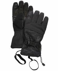 Spyder Men's Winter Gloves Dark Gray Size XL Overweb GTX Accessory $89 #422