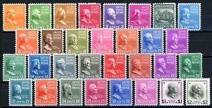 USAstamps Unused VF-XF US Singles Presidential Set Scott 803-833 OG MNH