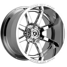 4 Gear Off Road 762c Pivot 20x10 6x55 19mm Chrome Wheels Rims 20 Inch Fits More Than One Vehicle
