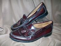 *USED* G.H. BASS & CO. MENS SIZE 8 D TASSEL LOAFERS SHOES BROWN CORDOVAN