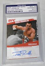Rich Franklin Signed 2009 Topps UFC Card PSA/DNA COA Autograph 42 53 56 58 64 99
