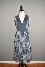 DIANE VON FURSTENBERG $498 Blue Vanya Silk Midi Dress Size 4