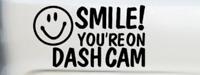 smile your on dash cam vinyl car van lorry security sticker decal graphic cctv