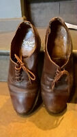 Vintage shoes brown leather mens  size 8 1960s