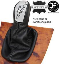 BLACK STITCH MANUAL LEATHER GEAR KNOB GAITER COVER FITS MERCEDES CLK W209 02-09