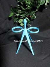 Tupperware NEW Midget Salt & Pepper Shaker STAND ONLY w/Toothpick Holder Blue