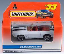 Matchbox MB 33 International '69 Camaro SS 396 White 1998 NEW in Box