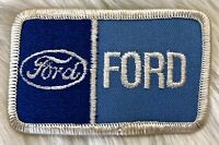 Vintage 80s FORD Embroidered Patch Iron On Sew On Patch Mechanic Trucker Uniform