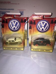 Hot Wheels 1:50 1952 Beetle California Local And Rat Rods Lot Of 2