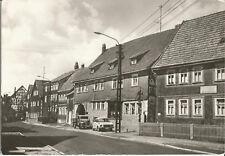 Schleusingen, Kreis Suhl, Schloßstraße, Auto, Foto Ansichtskarte