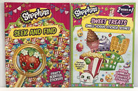 New 2 Shopkins Seek and Find & Sticker Activity Books Fruity scented stickers