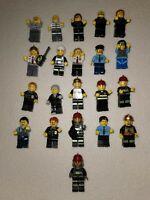 21 Lego Minifigures Bundle Police Fireman And Robbers