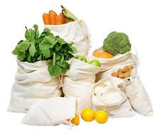 Produce & Food Storage Bags, Organic Cotton, Set of 7 Free Shipping