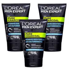 3x 100ml Loreal Men Expert Pure Charcoal Intense Face Peeling Cleans Deep