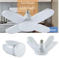60W 6000lm E27 LED Garage Shop Work Light Ceiling Fixture Deformable Lamp Bulb