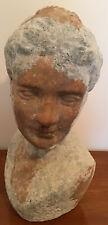 Vintage, Terracotta, Head & Shoulders, Sculptured Bust Of A Female.