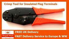 Crimp Tool for Insulated 4.8mm + 6.35mm Flag Terminals, 1.25 - 2.5mm²