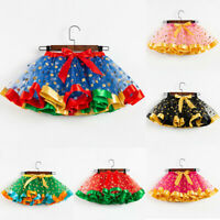 Girls Kids Tutu Party Dance Ballet Toddler Baby Costume Dot Print Skirts Clothes