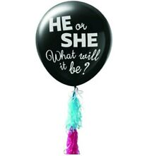 """Gender Reveal Balloon Giant 36""""Blue and pink Confetti, and Tassel Combo Kit"""