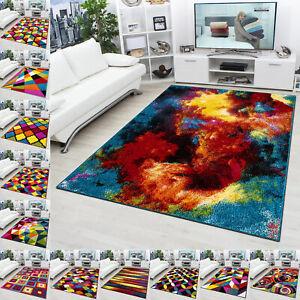 Modern Area Rug Multi Coloured Living Room Rugs Carpets Large Geometric Rug