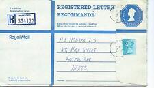 GB - REGISTERED ENVELOPE - SIZE H - £1.15.5p - HEREFORD - 354132