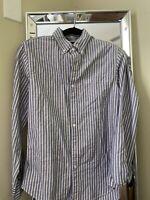 J. Crew Mercantile Men's Long Sleeve Button-down Shirt Striped Sz Small  EUC