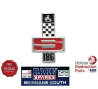 """HOLDEN """"186S"""" BADGE SUITS HR & HG GTS BOOT GUARD RARE SPARES BRISBANE SOUTH"""