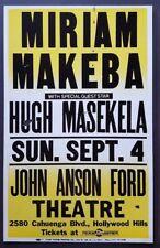 MIRIAM MAKEBA /HUGH MASEKELA Original Concert Poster 1988 South Africa Apartheid
