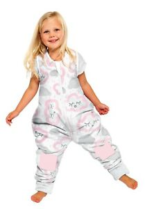 BABY STUDIO SLEEPING BAG -NO ARMS- COTTON- 2-3 YEARS 1.0 TOG CLOUDS - PINK-SALE!