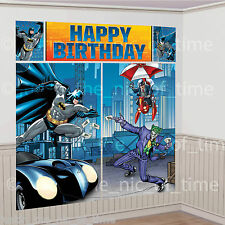 DC Comics BATMAN Superhero Birthday Party Scene Setter Wall Decoration 6ft Tall