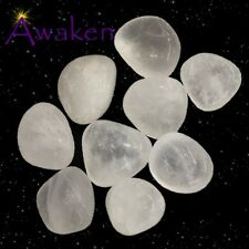 *ONE* SNOW QUARTZ Natural Tumbled Stone Approx 15-20mm *TRUSTED SELLER*