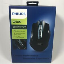 PHILIPS G400 Wired Gaming Mouse w/ Haptic Feedback (SPK9401B) FREE SHIPPING