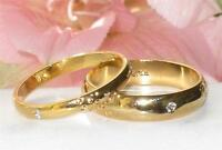 3MM 5MM MEN'S OR WOMEN'S NO STONE  WEDDING BAND RING 18KGE ygb22 gold