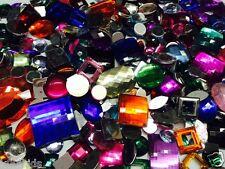 20 grams, FLAT BACK MIXED ACRYLIC JEWELS / JEWELLS, ARTS &CRAFT GEMS/ GEMSTONES