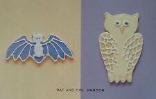 Martha Stewart By Mail HUGE Halloween Bat and Owl Copper Cookie Cutters Bonne