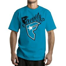 FAMOUS New Wildcat Mens Tee - Turquoise Stars And Straps Street Skate Moto Surf