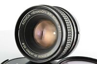Konica Hexanon AR 50mm f1.7 Lens with LENS CAPS [Excellent+++] From JAPAN #1073
