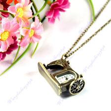 High Quality Metal Sewing Machine Pendant Necklace Chain Pocket Quartz Watch