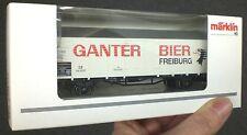 46201 Märklin GANTER BIER Freiburg H0 Güterwaggon OVP modeltrain 1:87 Neuw.