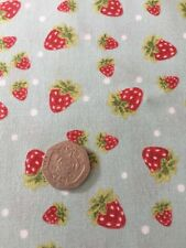 Strawberry Festival Summer Picnic Cotton Quilting Fabric FQ 50cm x 54cm