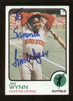 Jim Wynn #185 signed autograph auto 1973 Topps Baseball Trading Card