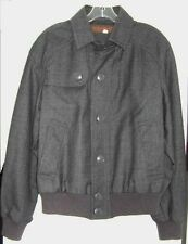 YVES SAINT LAURENT JACKET MENS GRAY WOOL JACKET VINTAGE 1970's