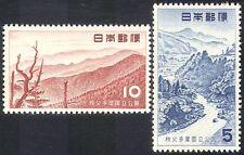 Japan 1955 Park/Mountains/River/Trees 2v set (n31189)