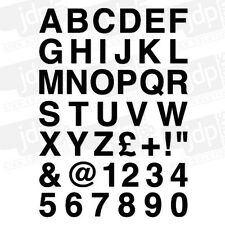 A4 SHEET OF ALPHABET LETTERS & NUMBERS VINYL STICKERS - ANY COLOUR